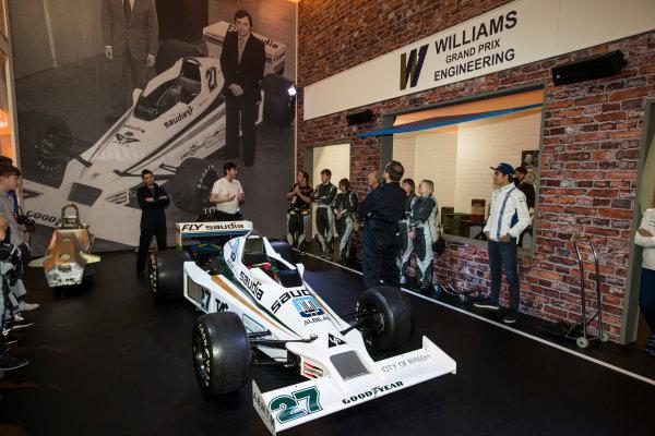 Autosport International Exhibition. National Exhibition Centre, Birmingham, UK. Saturday 14 January 2017. Lance Stroll (Williams F1), at the Williams Experience Photo: Sam Bloxham/LAT Photographic ref: Digital Image _SLB4930