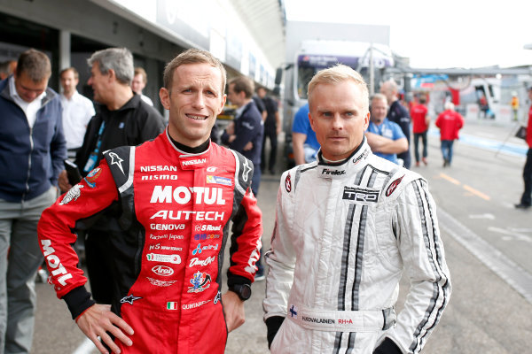 2017 DTM Round 9  Hockenheimring, Germany  Friday 13 October 2017. Ronnie Quintarelli, Nissan GT-R, Heikki Kovalainen, Lexus LC500  World Copyright: Alexander Trienitz/LAT Images ref: Digital Image 2017-DTM-HH2-AT2-0170