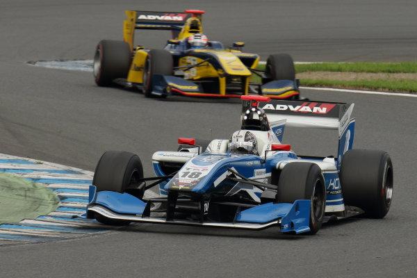2017 Japanese Super Formula. Motegi, Japan. 19th - 20th August 2017. Rd 4. 2nd position Samui Kobayashi ( #18 KCMG Elyse SF14 ) action World Copyright: Yasushi Ishihara / LAT Images. Ref: 2017SF_Rd4_014