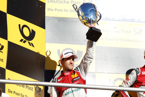 2017 DTM Round 9  Hockenheimring, Germany  Saturday 14 October 2017. Podium: second place Mike Rockenfeller, Audi Sport Team Phoenix, Audi RS 5 DTM  World Copyright: Alexander Trienitz/LAT Images ref: Digital Image 2017-DTM-HH2-AT3-1577