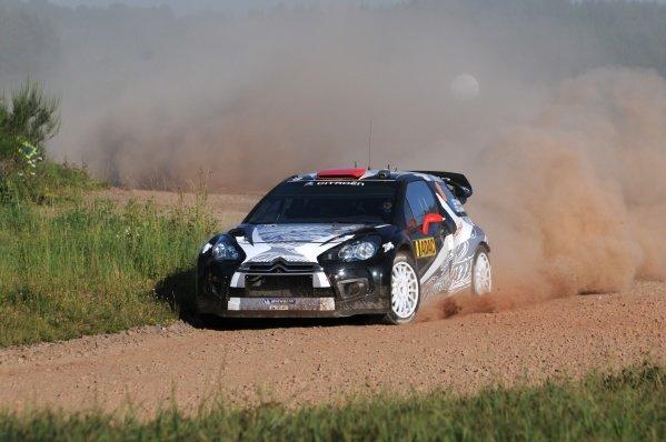 Kimi Raikkonen (FIN), Citroen DS3 WRC, on stage 7. World Rally Championship, Rd9, ADAC Rally Deutschland, Trier, Germany. Day Two, Saturday 20 August 2011.