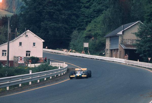 1970 Belgian Grand Prix.Spa-Francorchamps, Belgium.5-7 June 1970.Derek Bell (Brabham BT26A Ford).Ref-70 BEL 52.World Copyright - LAT Photographic