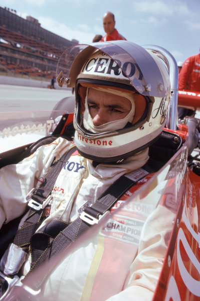 1974 USAC Indycar Series Ontario, California, USA. 3rd-10th March 1974.Al Unser (Eagle-Offenhauser), 2nd position.World Copyright: Murenbeeld/LAT Photographic