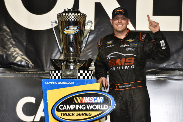 18 November, 2016, Homestead, Florida USA Johnny Sauter celebrates his Championship ? 2016, Nigel Kinrade LAT Photo USA