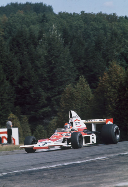 1974 Canadian Grand Prix  Mosport Park, Canada. 22 September 1974.  Emerson Fittipaldi, McLaren M23 Ford, 1st position.  Ref: 74CAN01. World Copyright: LAT Photographic
