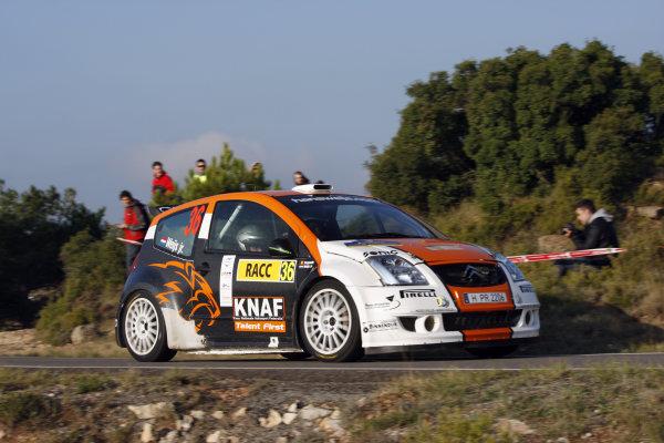 Round 11 Rally Catalunya 01-04 October 2009Hans Weijs, Citroen C2 S1600, ActionWorldwide Copyright: McKlein/LAT