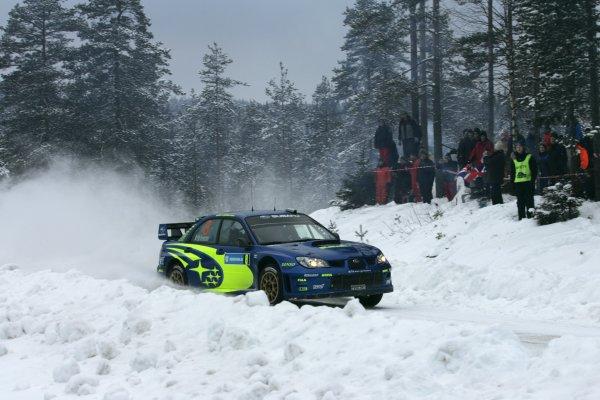 2007 FIA World Rally Championship,Round 2 Swedish Rally 8th-11th February 2007,Chris Atkinson, Subaru, action.Worldwide Copyright McKlein/LAT.
