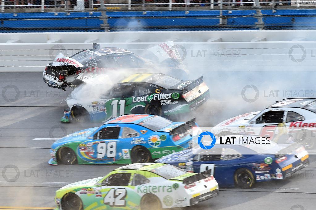 29-30 April, 2016, Talladega, Alabama USA  Joey Logano (22) wrecks with Blake Koch (11) ?2016, John Harrelson / LAT Photo USA
