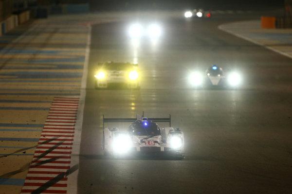 2015 FIA World Endurance Championship, Bahrain International Circuit, Bahrain. 19th - 21st November 2015. Romain Dumas / Neel Jani / Marc Lieb Porsche Team Porsche 919 Hybrid. World Copyright: Jakob Ebrey / LAT Photographic.