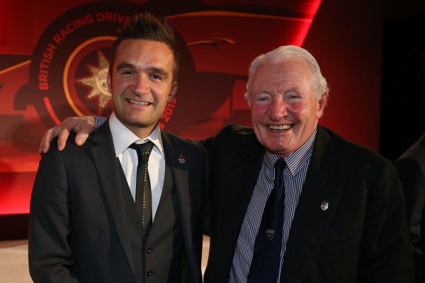2015 British Racing Drivers Club Awards Grand Connaught Rooms, London Monday 7th December 2015 Colin Turkington and Paddy Hopkirk. World Copyright: Jakob Ebrey/LAT Photographic ref: Digital Image TurkingtonHopkirk