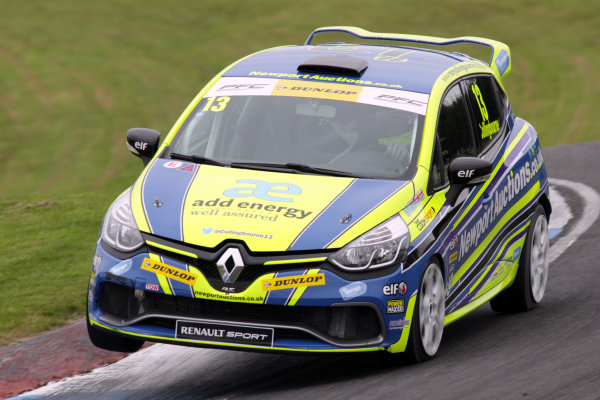 2015 Renault Clio Cup, Knockhil, Scotland 22nd-23rd August 2015, Rory Collingbourne (GBR) Cooksport Renault Clio Cup  World copyright. Ebrey/LAT Photographic