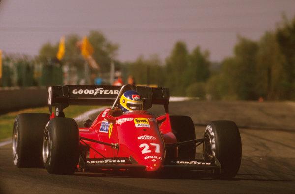Zolder, Belgium.27-29 April 1984.Michele Alboreto (Ferrari 126C4) 1st position.Ref-84 BEL 18.World Copyright - LAT Photographic