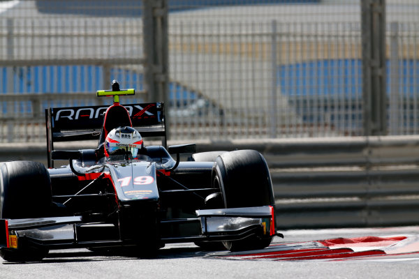 2017 FIA Formula 2 Test 3. Yas Marina Circuit, Abu Dhabi, United Arab Emirates. Friday 1 December 2017. Rene Binder (AUT, Rapax).  Photo: Joe Portlock/FIA Formula 2. ref: Digital Image _L5R3763