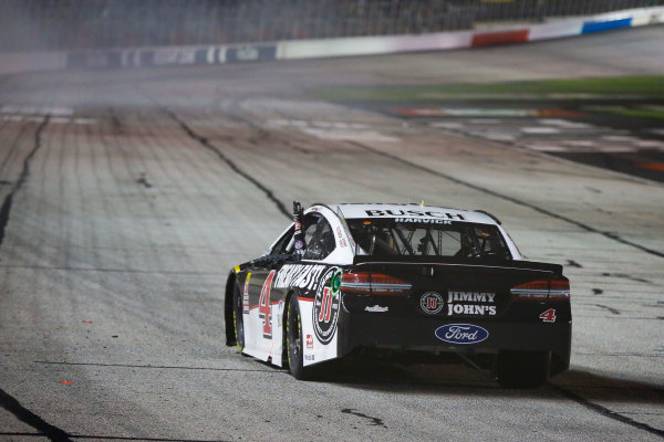 Monster Energy NASCAR Cup Series Folds of Honor Quik Trip 500 Atlanta Motor Speedway, Hampton, GA USA Sunday 25 February 2018 Kevin Harvick, Stewart-Haas Racing, Jimmy John's Ford Fusion celebrates World Copyright: Barry Cantrell NKP / LAT Images