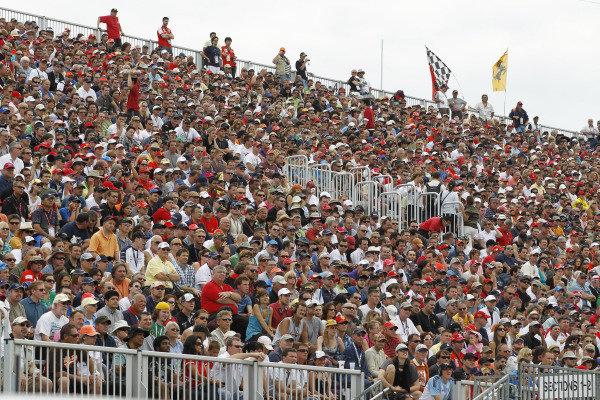 Circuit Gilles Villeneuve, Montreal, Canada 12th June 2010 Crowd in the grandstand. Atmosphere. World Copyright: Lorenzo Bellanca/LAT Photographic ref: Digital Image _A8C6158