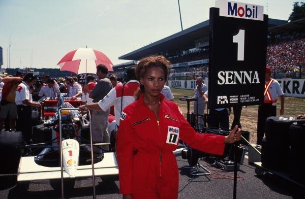 Ayrton Senna's grid girl.