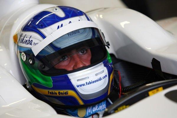 Fabio Onidi (ITA), driver of A1 Team Italy.A1GP Testing, Donington Park, England, Thursday 11 September 2008.