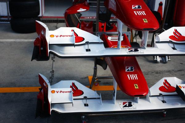 Ferrari F10 front wings. Formula One World Championship, Rd 14, Italian Grand Prix, Preparations, Monza, Italy, Thursday 9 September 2010.