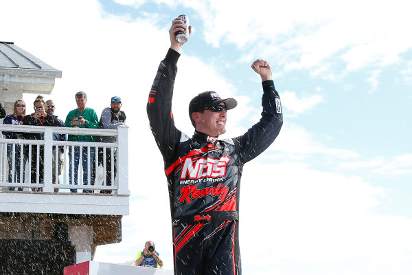 NASCAR XFINITY Series Zippo 200 at The Glen Watkins Glen International, Watkins Glen, NY USA Saturday 5 August 2017 Kyle Busch, NOS Rowdy Toyota Camry celebrates in victory lane  World Copyright: Russell LaBounty LAT Images