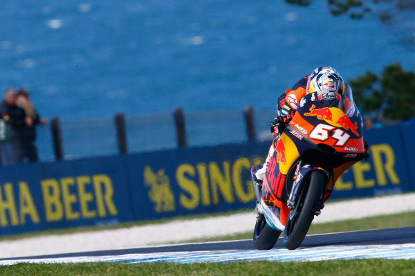 2017 Moto3 Championship - Round 16 Phillip Island, Australia. Friday 20 October 2017 Bo Bendsneyder, Red Bull KTM Ajo World Copyright: Gold and Goose / LAT Images ref: Digital Image 23289