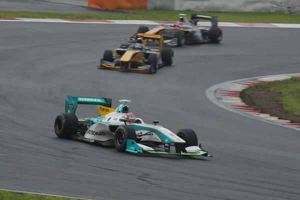 2014 Super Formula Series. Fuji, Japan. 11th - 13th July 2014. Rd 3. Winner Kazuki Nakajima ( #37 TEAM TOM'S SF14 ) action. World Copyright: Yasushi Ishihara / LAT Photographic. Ref: 2014SF_Rd3_007.JPG