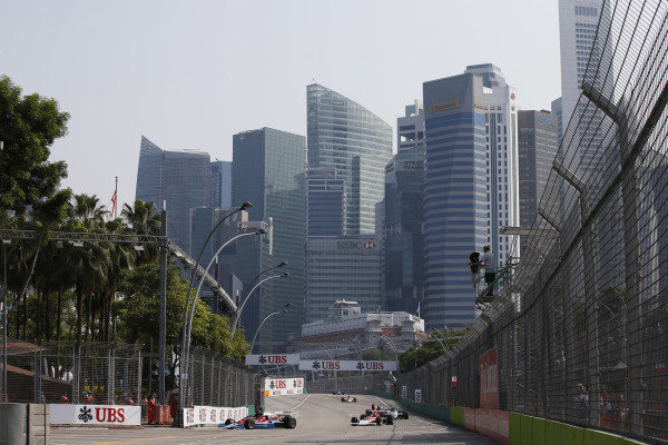 Marina Bay Circuit, Singapore. Sunday 21 September 2014. Action from race 2 of the Masters Historic Grand Prix support race. World Copyright: Charles Coates/LAT Photographic. ref: Digital Image _J5R7369