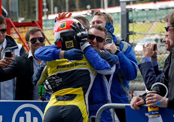 2014 GP2 Series Round 8. Spa-Francorchamps, Spa, Belgium. Sunday 24 August 2014. Felipe Nasr (BRA, Carlin)  Photo: Jed Leicester/GP2 Series Media Service. ref: Digital Image _JED9123