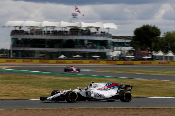 Silverstone, Northamptonshire, UK.  Friday 14 July 2017. Lance Stroll, Williams FW40 Mercedes. World Copyright: Zak Mauger/LAT Images  ref: Digital Image _54I4519