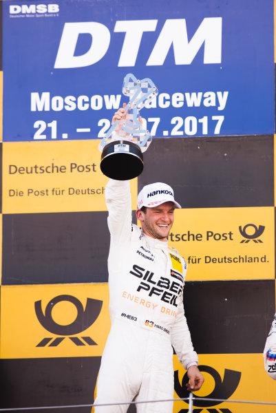 2017 DTM Round 5 Moscow Raceway, Moscow, Russia Sunday 23 July 2017. Podium: Race winner Maro Engel, Mercedes-AMG Team HWA, Mercedes-AMG C63 DTM World Copyright: Evgeniy Safronov/LAT Images ref: Digital Image SafronovEvgeniy_2017_DTM_MRW_San-191