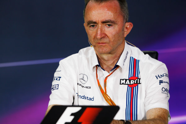 Circuit Gilles Villeneuve, Montreal, Canada. Friday 09 June 2017. Paddy Lowe, Chief Technical Officer, Williams Martini Racing Formula 1, in the Team Principals Press Conference. World Copyright: Andy Hone/LAT Images ref: Digital Image _ONZ0688