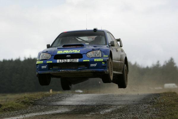 2004 FIA World Rally Champs. Round twelve, Wales Rally GB.16th- 19th September 2004.Mikko Hirvonen, Subaru, action.World Copyright: McKlein/LAT