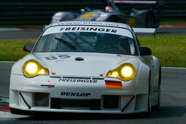 2004 Le Mans Endurance SeriesMonza, Italy. 8th May 2004.Stephane Ortelli/Romain Dumas (Freisinger Porsche 996 GT3-RSR).World Copyright: John Brooks/LAT Photographicref: Digital Image Only