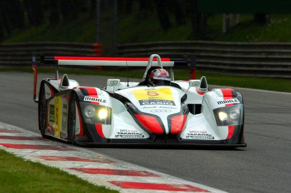 2004 Le Mans Endurance SeriesMonza, Italy. 8th May 2004.Seiji Ara/Rinaldo Capello/Tom Kristensen (Team Goh Audi R8), 3rd position.World Copyright: John Brooks/LAT Photographicref: Digital Image Only