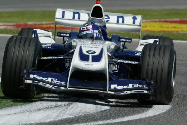 2004 San Marino Grand Prix - Friday Practice,Imola, Italy.23rd April 2004Juan-Pablo Montoya, BMW Williams FW 26, action.World Copyright LAT PhotographicDigital image only.