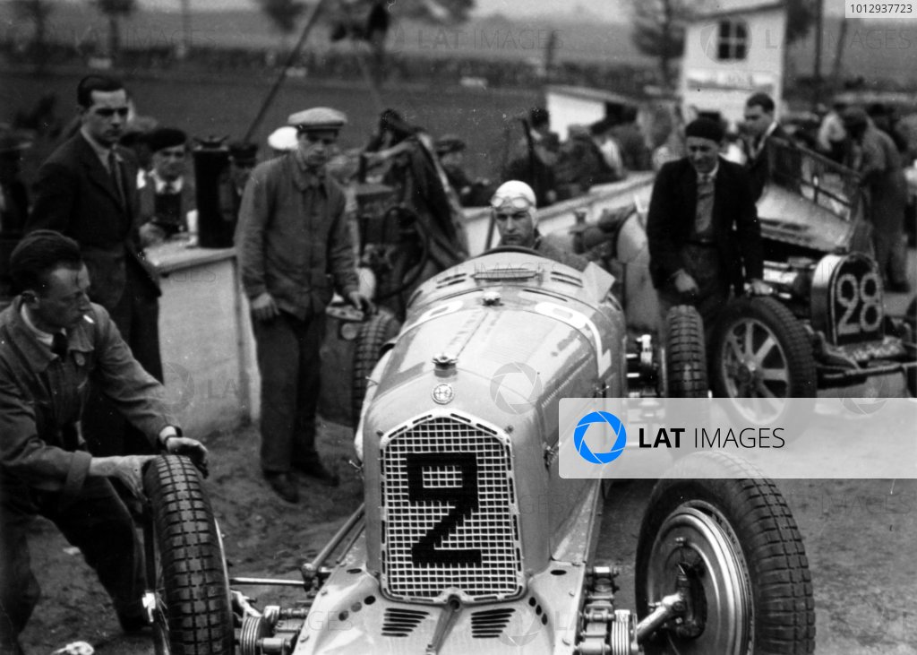 1935 Picardie Grand Prix Peronne, France. 26 May 1935 Raymond Sommer, Alfa Romeo Tipo-B