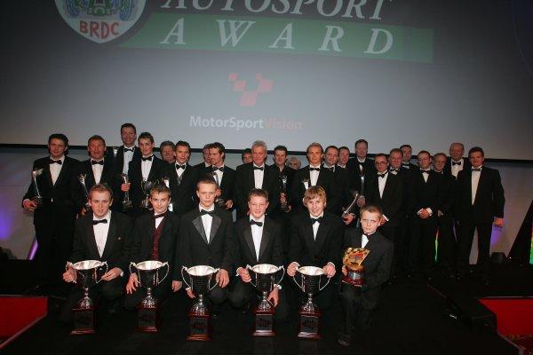 2005 Autosport AwardsGrosvenor House, London. 4th December.All the evening's winners.World Copyright: Glenn Dunbar/LAT Photographicref: Digital Image Only