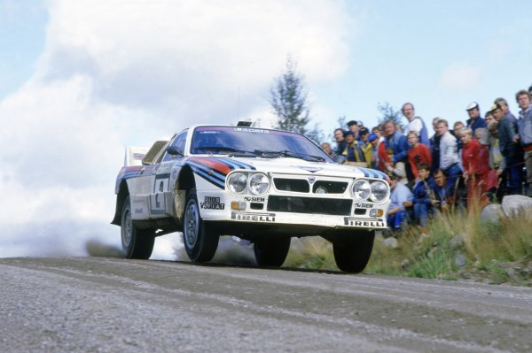1985 World Rally Championship.1000 Lakes Rally, Finland. 23-25 August 1985.Markku Alen/Ilkka Kivimaki (Lancia Rally 037), 3rd position.World Copyright: LAT PhotographicRef: 35mm transparency 85RALLY21