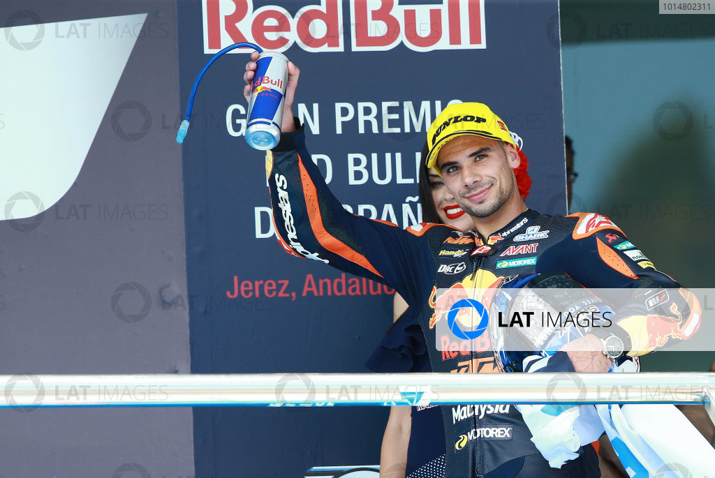 2017 Moto2 Championship - Round 4 Jerez, Spain Sunday 7 May 2017 Podium: third place Miguel Oliveira, Red Bull KTM Ajo World Copyright: Gold & Goose Photography/LAT Images ref: Digital Image 668730
