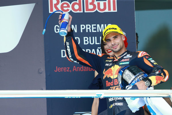 2017 Moto2 Championship - Round 4 Jerez, Spain Sunday 7 May 2017 Podium: third place Miguel Oliveira, Red Bull KTM Ajo World Copyright: Gold & Goose Photography/LAT Images ref: Digital Image 668730