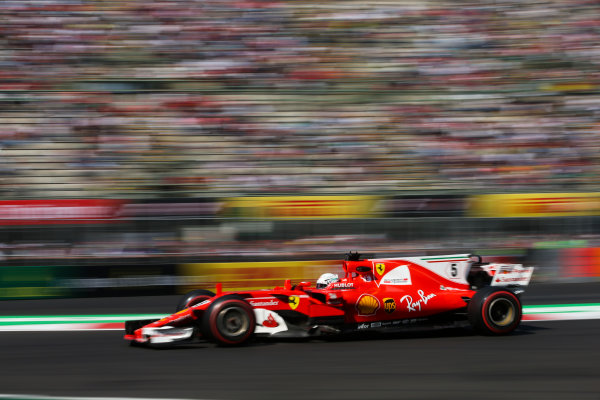 Autodromo Hermanos Rodriguez, Mexico City, Mexico. Friday 27 October 2017. Sebastian Vettel, Ferrari SF70H. World Copyright: Charles Coates/LAT Images  ref: Digital Image DJ5R1349
