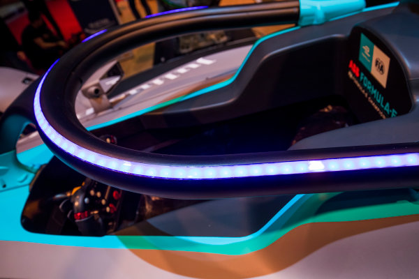 2017/2018 FIA Formula E Championship. Geneva Motor Show Tuesday 6 March 2018. The FIA Formula-E Gen2 car is unveiled. Photo: Sam Bloxham/LAT/Formula E ref: Digital Image _W6I3932