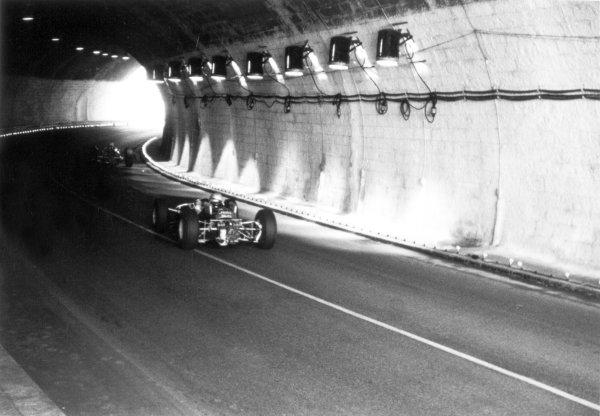 1965 Monaco Grand Prix.Monte Carlo, Monaco. 28-30 May 1965.Cars enter the Grand Hotel tunnel, action.World Copyright - LAT PhotographicRef: 156F