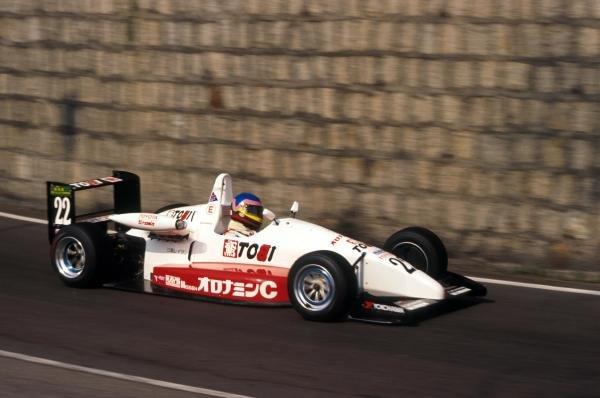 Jacques Villeneuve (CDN) was third in the TOMS's Toyota. International Formula Three, Macau, Hong Kong, 22 November 1992