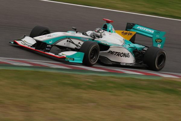 2014 Super Formula Series. Suzuka, Japan. 9th - 10th November 2014. Rd 7. Race 1 - Pole position Andre Lotterer ( #36 PETRONAS TOM'S SF14 ) action World Copyright: Yasushi Ishihara / LAT Photographic. Ref:  2014_SF_Rd7_024.JPG