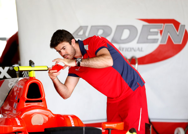 2015 GP2 Test 1 Yas Marina Circuit, Abu Dhabi, United Arab Emirates Wednesday 10 March 2015 Norman Nato (FRA, Arden Int)takes a picture of his car Photo: Jed Leicester/GP2 Series Media Service ref: Digital Image _JL14706