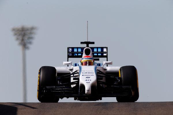 Yas Marina Circuit, Abu Dhabi, United Arab Emirates. Wednesday 26 November 2014. Felipe Nasr, Williams FW36 Mercedes.  World Copyright: Glenn Dunbar/LAT Photographic. ref: Digital Image _89P0139