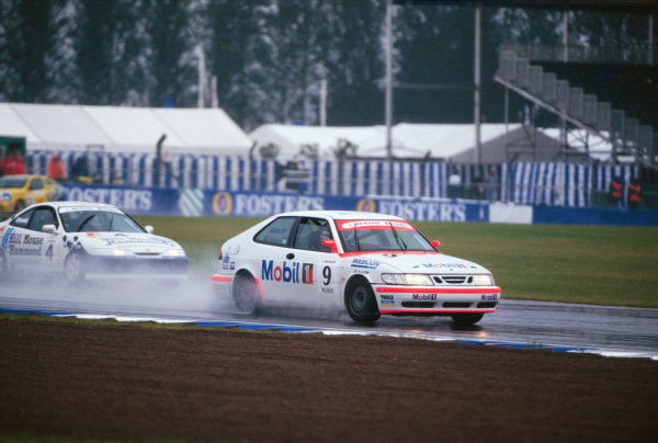 1998 National Saloon Car Cup. Silverstone, Great Britain. 11th July 1998. Rd 8. Lionel Abbott (Saab 9.3), 3rd position, action.  World Copyright: LAT Photographic.  Ref:  98NATSAL SIL4.
