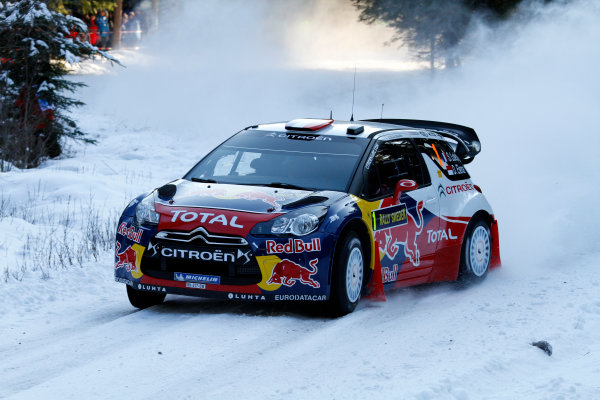 Round 02 - Rally Sweden 09-12 February 2012. Sebastien Loeb, Citroen WRC, Action  Worldwide Copyright: McKlein/LAT