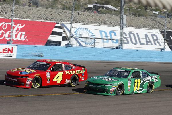 #4: Ross Chastain, JD Motorsports, Chevrolet Camaro teamjdmotorsports.com and #11: Ryan Truex, Kaulig Racing, Chevrolet Camaro LeafFilter Gutter Protection
