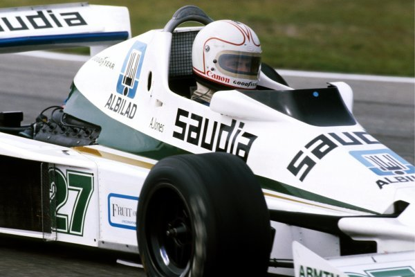 Alan Jones (AUS) Williams FW06 retired from the race on lap 18 with a broken throttle linkage. Dutch Grand Prix, Rd 13, Zandvoort, Holland, 27 August 1978. BEST IMAGE
